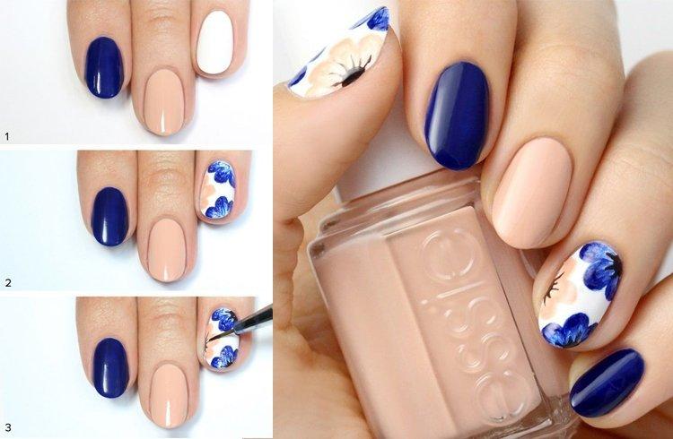 como pintar las uñas con diseños