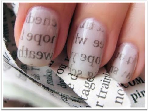 Como Pintarse Las Uñas Con Periodico