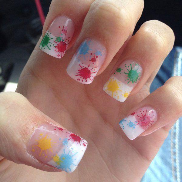 como pintar las uñas de colores