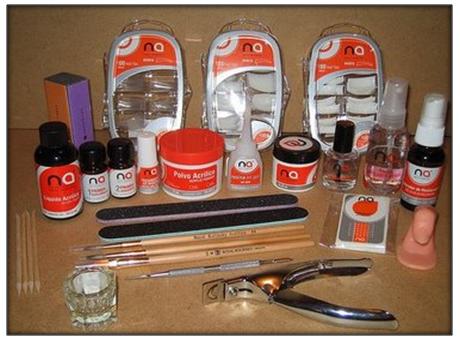 materiales para poner uñas acrilicas