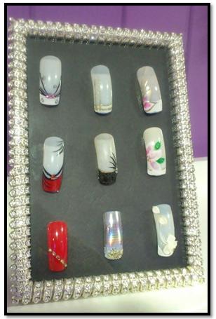 muestrario de uñas creativo